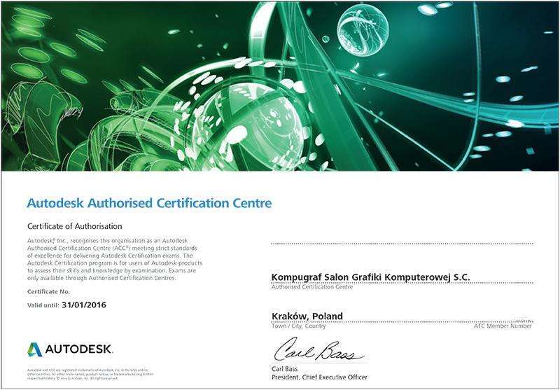 Authorized Certification Center Autoresk